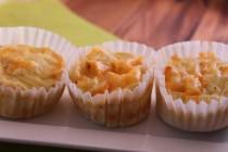 Burgonyás sajtos muffin