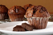 Duplán csokis muffin