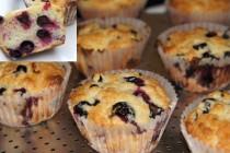 Feketeribizlis muffin